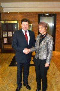Светла Янчева и председателят на АСПБ Венцислав Върбанов