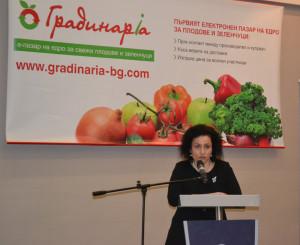 Десислава Танева на градинарски форум
